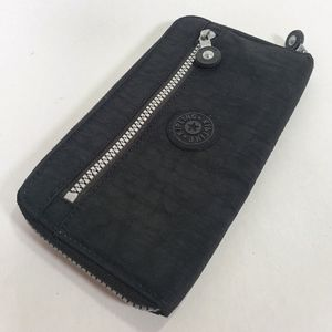 Kipling Black and Silver Wallet Authentic Guc